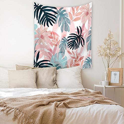 KHKJ Decoración de Estilo Tropical Tapiz de Sala de Estar impresión de Hojas en la Pared decoración del hogar Tapiz de Arte de Personalidad A13 150x130cm