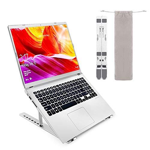 Gelrova Laptop-Ständer, Aluminium belüftet, Kühlständer, ergonomisch, verstellbar, leicht, für Dell XPS, HP, mehr 10-15,6 Zoll Laptops Tablet