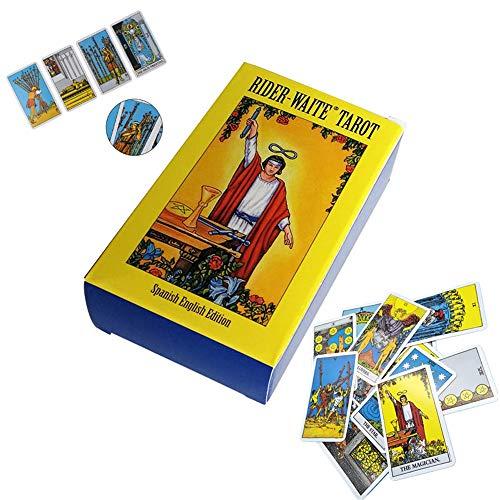 78Pcs/Set Tarot Cards Classic,raider waite tarot cards,tarot cards with guide book(English Version)