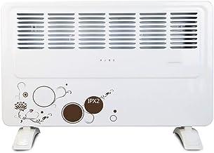 L.TSA Calentador Impermeable de la Sala de baño, Estufa de Aire Caliente rápida de Doble Uso de Pared y móvil de 2000 vatios, Secadora Multiusos con tendedero Blanco