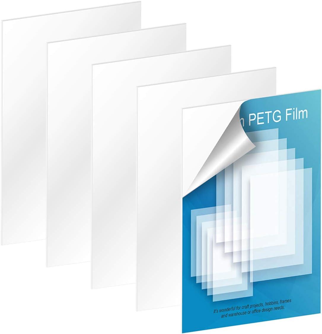 "5 Pack of 4x6"" PET Sheet Panels Thick 0.04"" San Selling Jose Mall Shat Glass"