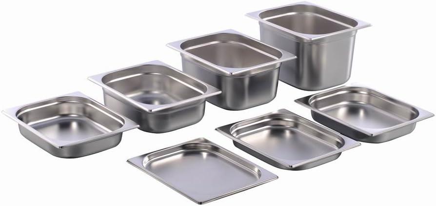 GN Behälter Gastronorm 1//4 Edelstahl 20 mm 200 mm Tiefe