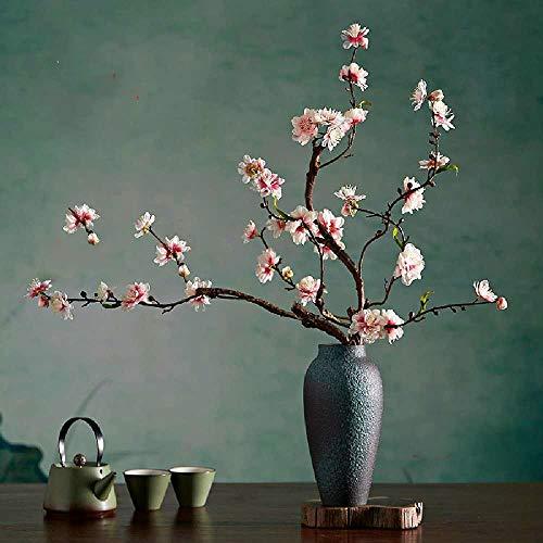 Ldrenboso - Adornos de Flores de imitacion Chinas para Mesa de Comedor de Hotel, Mesa Redonda Grande, arreglos Individuales de Escritorio, Flores de melocoton Falsas