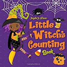 Little Witch's Counting Halloween Book: Children's Halloween Book for African American Girls Ages 2-5