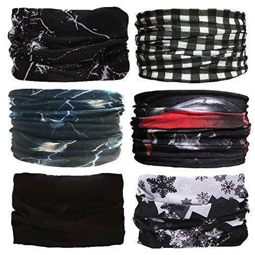 Sea Team Multifunctionele sjaal, set van 6 stuks, voor 12 soorten keuze, hoofddoek, hoofdband, motorfiets, bandana, hoofddoek, enz.