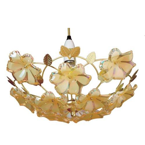 Lighting Web Co Abat-jour en acrylique pour plafonnier Diffuse la lumière vers le haut Doré 37 cm