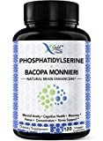 PhosphatidylSerine & Bacopa Monnieri 400 mg 2 in 1 Supplement - Natural Brain Enhancer/Nootropic for Enhanced Focus and Concentration, Memory Support, & Cognitive Function - 120 Vegetarian Capsules