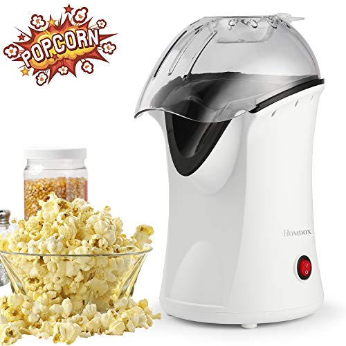 Buy Homdox Hot Air Popcorn Popper, No Oil Popcorn Maker with Measuring Cup and Removable Lid, Health...