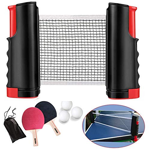 Best Prices! Table Tennis Racket Set with Telescopic Table Tennis net Set,Table Tennis Sports Acce...