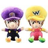 uiuoutoy Super Mario Bros. Baby Wluigi & Baby Wario Plush 6'' Set 2pcs