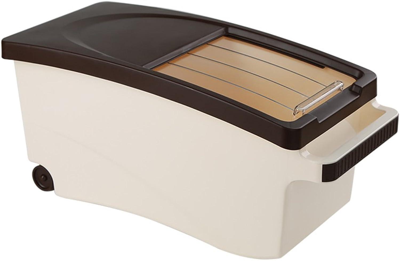 WSWJJXB A Prueba de Insectos a Prueba de Humedad Caja de arroz de plástico sellada Caja de arroz Cocina Caja de Almacenamiento de Fideos de arroz (Tamaño   46.8×21.2×21.7cm)