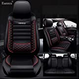 Eunncu Fundas Asientos Coche Universales Accesorios para Alfa Romeo 156 Sport Wagon (932B) 156 GTA (932A) 156 Sportwagon GTA (932B) Cuero Impermeable Rojo Negro