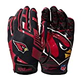 Wilson NFL Stretch Fit Football Gloves - Arizona- Adult