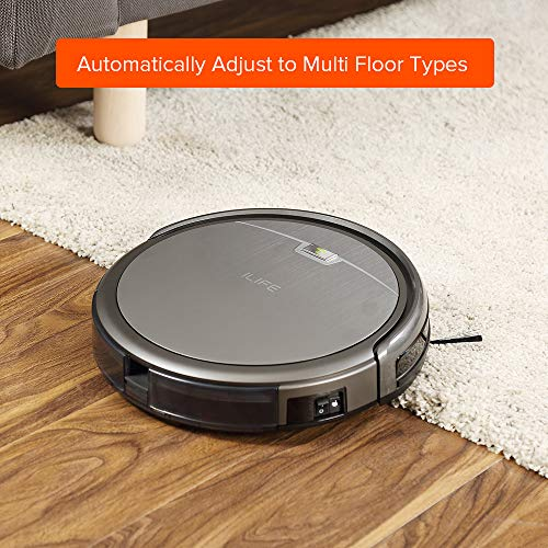 ILIFE A4s Robot Vacuum Cleaner with Max Power Suction, Up to 140mins Run time, For Hard Floors and thin Carpets