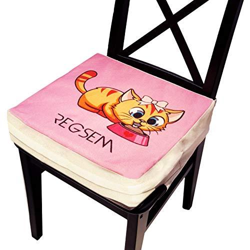Rialzo Sedia Per Bambini Alzasedia 2° Generazione Alzatina Bimbi Cuscino Alzabimbo X Tavolo Bambino Portatile Alzata Bimbo Alzatine Sedie Seduta Rialzata Riduttore Altezza Alza Sedile