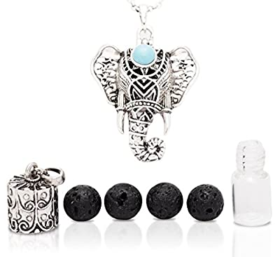 SPRING SALE: Gorgeous Eternal Elephant Aromatherapy Necklace 2 Piece Diffuser Locket Bottle Kit