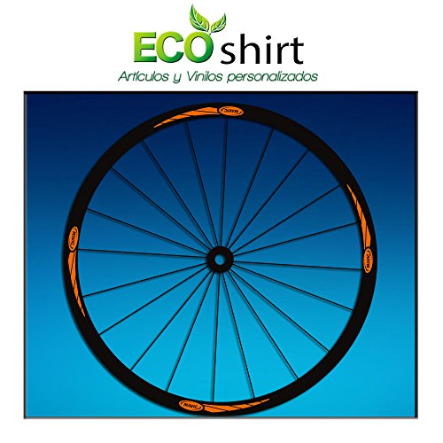 "Ecoshirt, RG-VO8P-QMME, Pegatinas Stickers Llanta Rim Mavic 26"" 27,5"" 29"" AM43 MTB Downhill, Naranja"