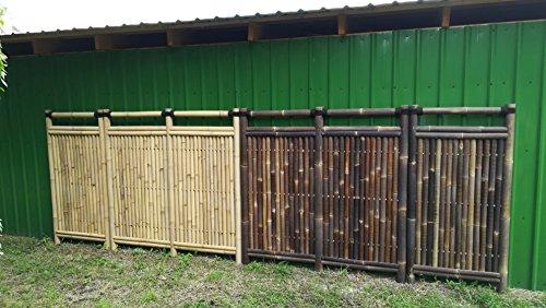 Bambuszaun Gartenzaun Bambus Sichtschutzzaun Sichtschutzwand Bambus Yala (90 x 180 cm Black)