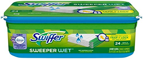 Swiffer Sweeper Wet Mopping Cloth Refill - Lavender Vanilla & Comfort - 24 ct