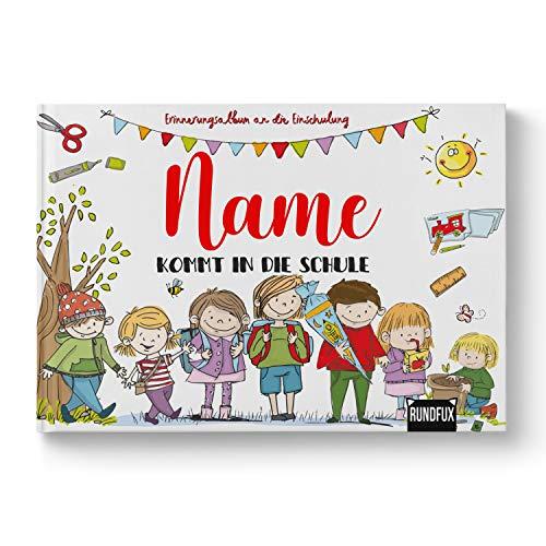 Das Erinnerungsalbum zur Einschulung | Personalisiert mit Wunschnamen - Jedes Buch EIN Unikat für das erste Schuljahr an der Grundschule