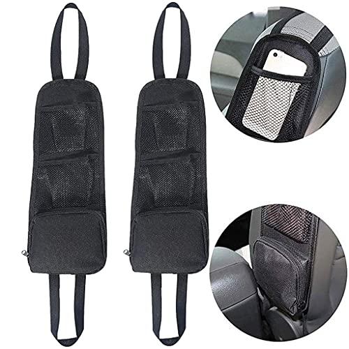Conruich 2 organizadores laterales para el asiento del coche, plegables, de malla, impermeables, multifuncionales, para coches, SUV, camiones