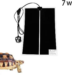 AKL Reptile Heating Pad Adjustable Heat Mat,7W Reptile Under Tank Warmer Mat Heating Mat with Temperature Controller
