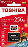 Toshiba 256GB 256g Exceria M303con microSD microSDXC UHS-I U3card 4K CLASS10V30A1MicroSD micro SD memory card read 98MB/s Write 65MB/s (thn-m303r2560a2)