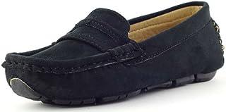 4e381d92725ad8 Chaussures Bateau en Daim Enfants Garçons Homme Slip on Mocassins Penny  Loafers Confort Chaussures de Ville
