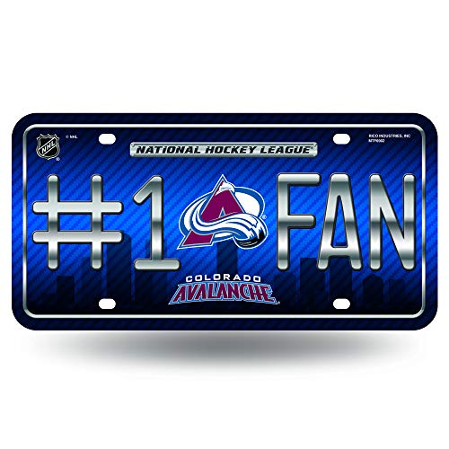 Rico NHL Colorado Avalanche #1 Fan Metal Tag License Plate
