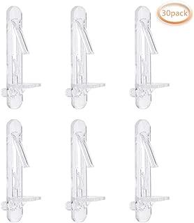 INCREWAY 30 Pack Shelf Support Peg, Clear Plastic Shelves Bracket Self-Locking Support Pin Clips, Fits 5mm Diameter Hole & 5/8 Inch Cabinet Shelf