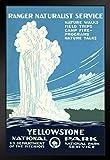 Poster Yellowstone National Park, Retro, Vintage, WPA