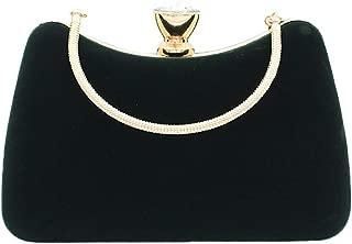 Women Evening Clutch Purse Wedding Party Handbag with Detachable Chain