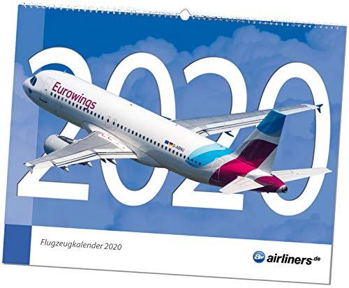 airliners.de Flugzeugkalender 2020 - Großformat 48cm x 38cm - aktuelle Flugzeuge und Fluggesellschaften - Airbus, Boeing und andere Verkehrsflugzeuge