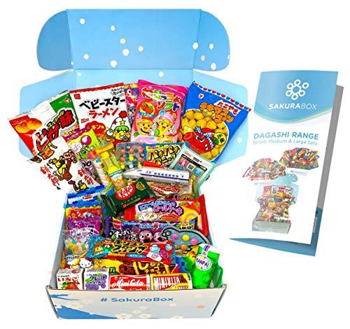 Japanisches Süßigkeiten Dagashi Set und Snack Sortiment 40 Stück