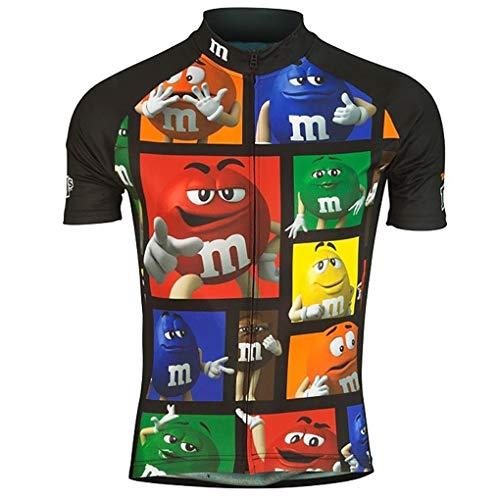 Moxilyn Abbigliamento da Ciclismo Maglia Manica Corta Maglia Ciclismo Maglietta Bici Uomo mtb Maglietta Corta Traspirante Asciugatura Veloce Maglietta Divertente Ciclismo Maglietta