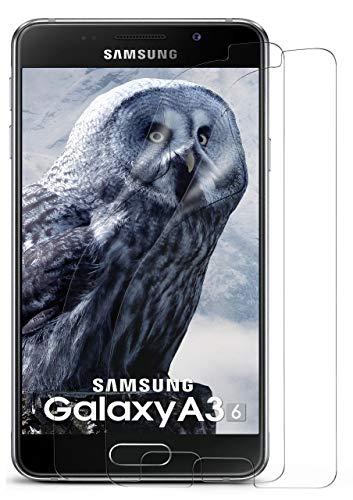 MoEx® Kristallklare HD Schutzfolie passend für Samsung Galaxy A3 (2016) | Premium Bildschirmfolie - Kratzfest & Fast unsichtbar - Ultra Klar