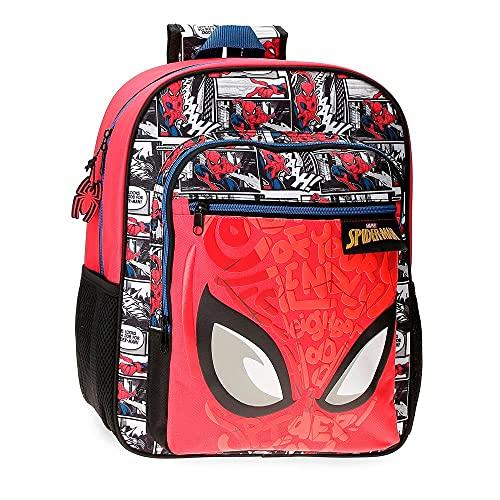 Marvel Spiderman Comic Mochila Escolar Rojo 27x38x11 cms Poliéster 13,68L