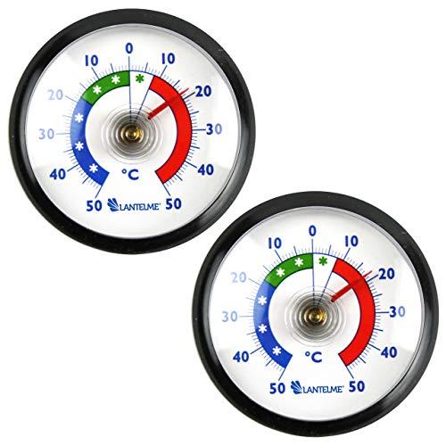 Lantelme 8059 - Termómetro para frigorífico (2 unidades, autoadhesivo, para congelador)