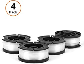 V VONTOX Line String Trimmer Replacement Spool Suitable for Black+Decker String Trimmer, 4 Pack for Replacement, 30ft 0.065 Inch.