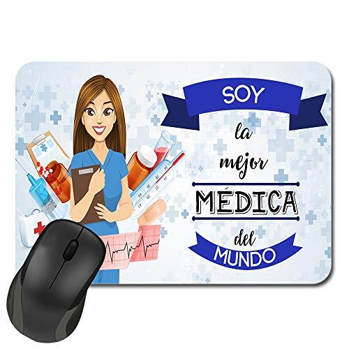 Kembilove Alfombrilla de ratón Soy la Mejor Médica del Mundo – Alfombrilla de ratón para la Oficina – Alfombrilla de ratón para Profesionales – Alfombrilla Ordenador Impresa