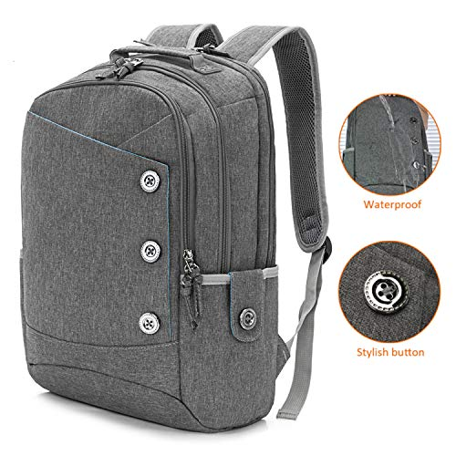 15.6 Inch College Backpack for Women Men Laptop Backpacks Commute Bag School Bag Casual Bookbag Travel Computer Bags Casual Daypack,Grey