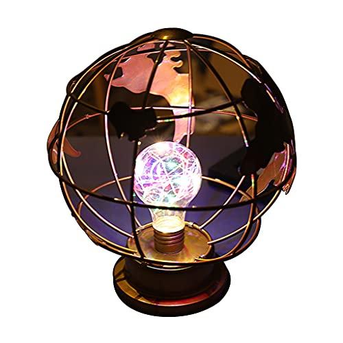 Lámpara de mesa LED Tierra, funciona con pilas, moderna luz de escritorio, decoración romántica
