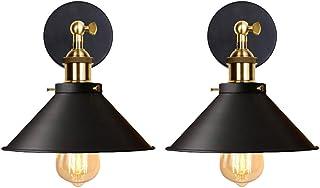 classe /énerg/étique A ++ salon MIFIRE applique murale m/étal//bois blanc couloir vintage E27 porte-lampe appliques murales loft plafonnier pour chambre sans ampoule