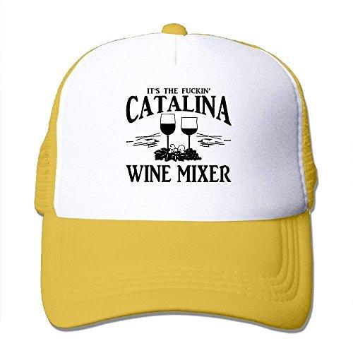 DIMAA Adult Unisex Fuckin ' Catalina Wine Mixer Mesh Dancing Hat Black