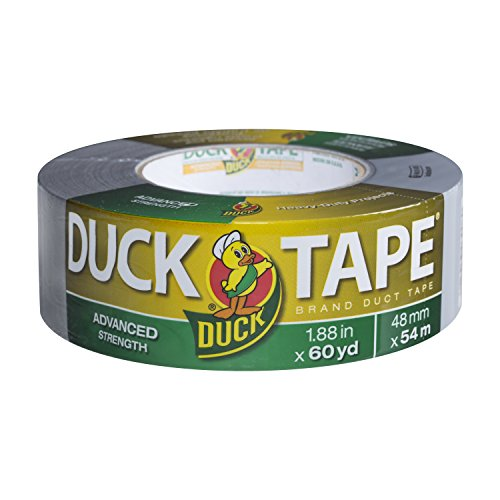 Duck Brand 394471 Advanced Strength Duct Tape, 1.88 Inches by 60 Yards, Single Roll, Gray