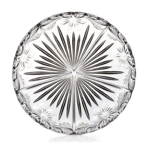 Kabarett Konfektplatte Knabberteller Gianna Transparent D 31,5 cm Kristall