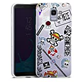 Coque Samsung J6 Plus 2018 One Piece Stickers | TPU Antichocs | Protection Silicone