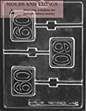 60th plain lolly Chocolate Candy Mold, 60th lolly...