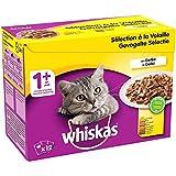 Whiskas Sélection à la Volaille en Gelée – Nourriture humide pour chat adulte – Alimentation complète en sachets fraîcheur – 48 x 100g