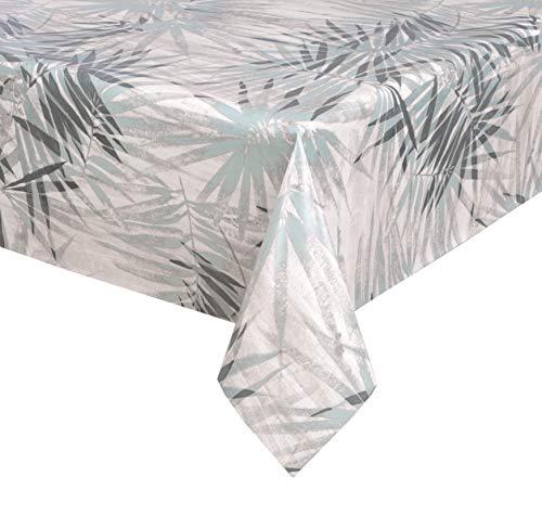 BEAUTEX Wachstuchtischdecke, Bamboo blau, abwischbar Wachstuch Tischdecke ECKIG RUND OVAL, Größe wählbar (Eckig 140x100 cm)